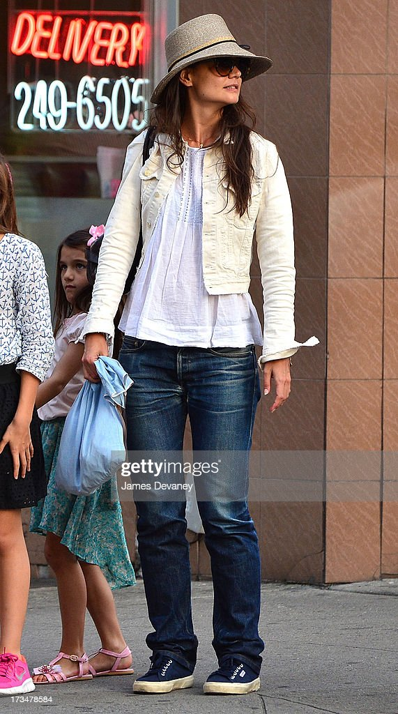 Katie Holmes and Suri Cruise leave Make Meaning on July 14, 2013 in New York City.