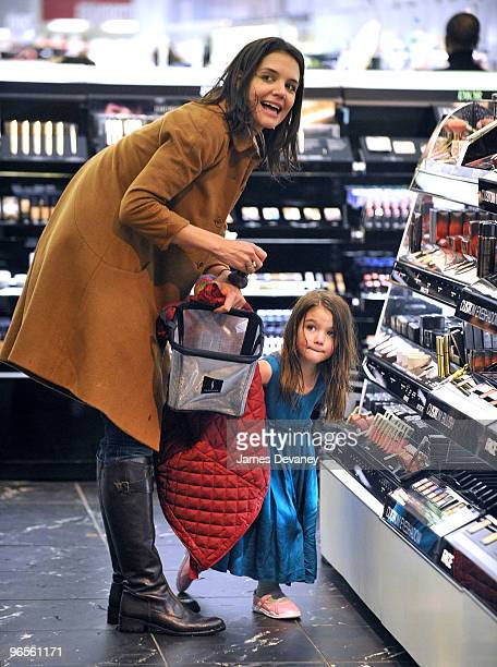 Katie Holmes and Suri Cruise seen in Manhattan on February 10 2010 in New York City