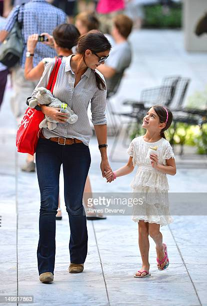 Katie Holmes and Suri Cruise visit Museum of Modern Art on August 6 2012 in New York City