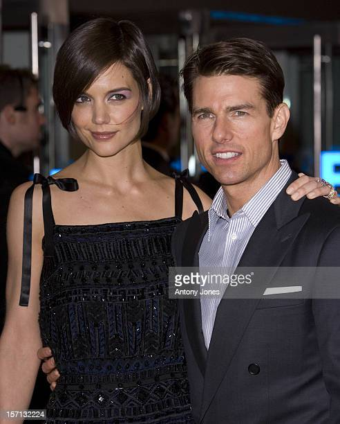 Katie Holmes And Tom Cruise Attend The Uk Premiere Of 'Valkyrie' Held At The Odeon Leicester Square In London