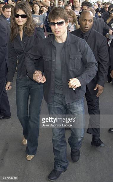 Katie Holmes and Tom Cruise in Paris France