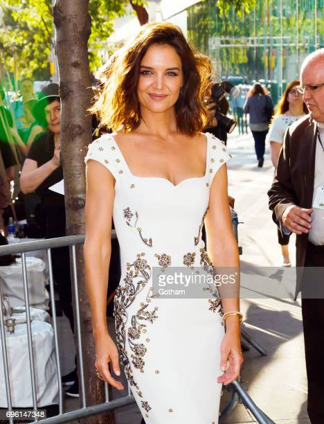 Katie Holmes arrives at Fifi Awards at Avery Fisher Hall on June 14 2017 in New York City
