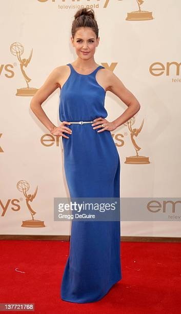 Katie Holmes arrives at the Academy of Television Arts Sciences 63rd Primetime Emmy Awards at Nokia Theatre LA Live on September 18 2011 in Los...
