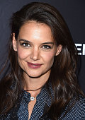 Katie Holmes arrives at the For Your Consideration Screening And Panel For Showtime's 'Ray Donovan' at Paramount Theatre on April 25 2016 in...