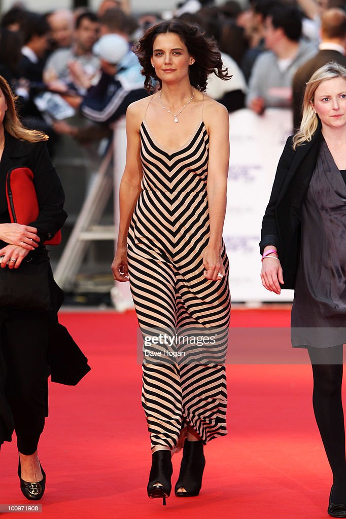 Katie Holmes arrives at The National Movie Awards 2010 held at The Royal Festival Hall on May 26 2010 in London England