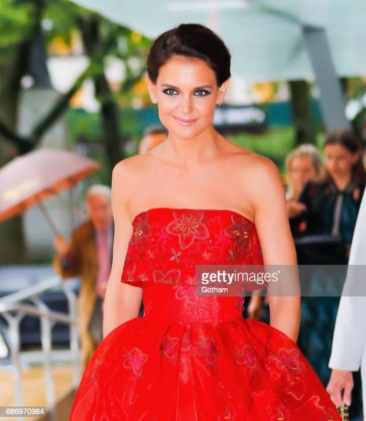 Katie Holmes arrives at the opening night of American Ballet Theater in New York