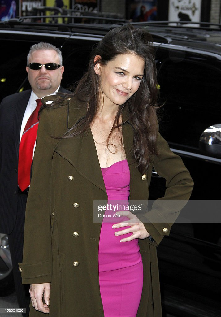 Katie Holmes arrives for 'The Late Show with David Letterman' at Ed Sullivan Theater on December 20, 2012 in New York City.