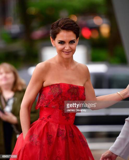 Katie Holmes arrives to the American Ballet Theatre Spring 2017 Gala at The Metropolitan Opera House on May 22 2017 in New York City