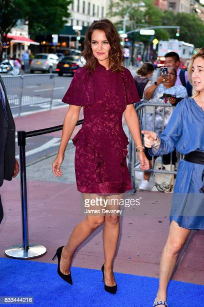 Katie Holmes arrives to 'The Tick' Blue Carpet Premiere at Village East Cinema on August 16 2017 in New York City