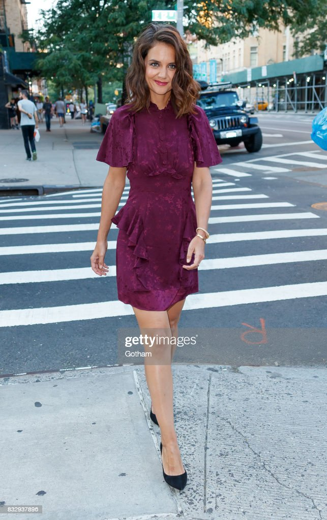 Katie Holmes at the NY Premiere of 'The Tick' on August 16, 2017 in New York City.