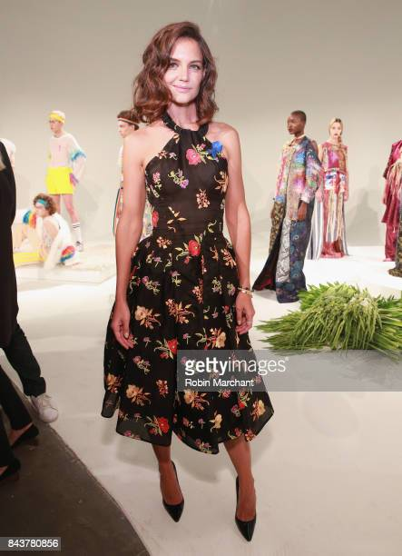 Katie Holmes attends Adam Dalton Blake Tiffany Huang Ghazaleh Khalifeh Front Row during New York Fashion Week on September 7 2017 in New York City