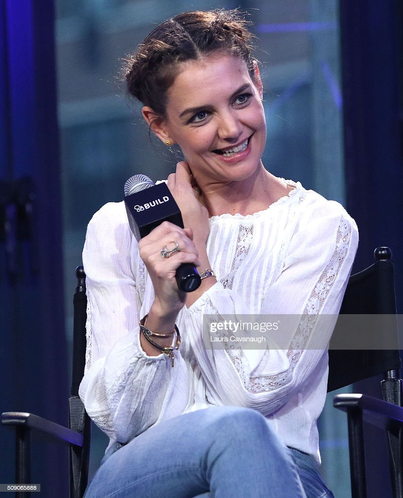 <a gi-track='captionPersonalityLinkClicked' href=/galleries/search?phrase=Katie+Holmes&family=editorial&specificpeople=201598 ng-click='$event.stopPropagation()'>Katie Holmes</a> attends AOL Build Speaker Series - <a gi-track='captionPersonalityLinkClicked' href=/galleries/search?phrase=Katie+Holmes&family=editorial&specificpeople=201598 ng-click='$event.stopPropagation()'>Katie Holmes</a>, Luke Kirby, Griffin Dunne, Christine Lahti and Paul Dalio, 'Touched with Fire' at AOL Studios In New York on February 8, 2016 in New York City.