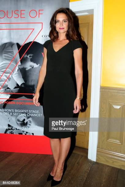 Katie Holmes attends Brooks Brothers with The Cinema Society host the premiere of 'House of Z' at Crosby Street Hotel on September 7 2017 in New York...
