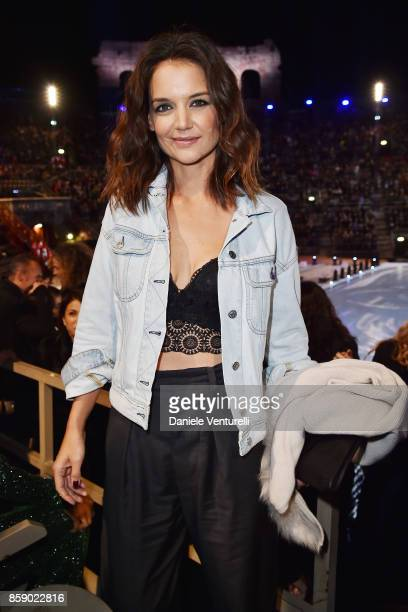 Katie Holmes attends Intimissimi On ice 2017 on October 6 2017 in Verona Italy