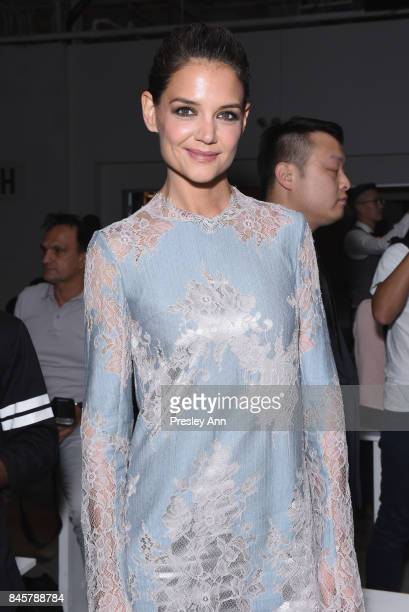Katie Holmes attends Lanyu fashion show during New York Fashion Week The Shows at Gallery 2 Skylight Clarkson Sq on September 11 2017 in New York City