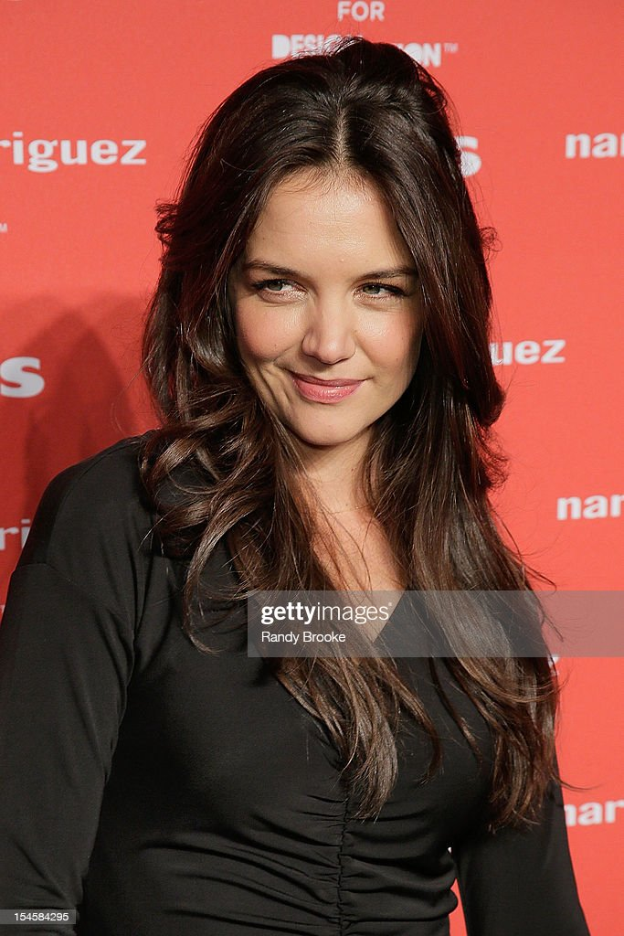 <a gi-track='captionPersonalityLinkClicked' href=/galleries/search?phrase=Katie+Holmes&family=editorial&specificpeople=201598 ng-click='$event.stopPropagation()'>Katie Holmes</a> attends Narciso Rodriguez For Kohl's DesigNation Collection Launch at IAC Building on October 22, 2012 in New York City.