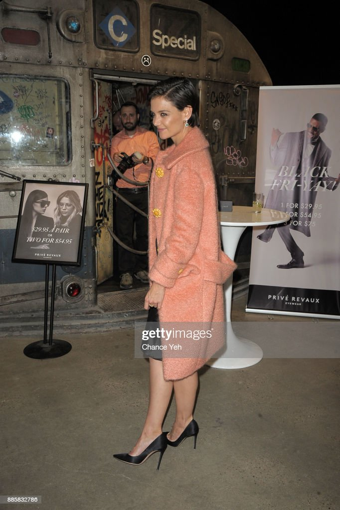 Katie Holmes attends Prive Revaux Eyewear New York flagship launch at Prive Revaux on December 4, 2017 in New York City.