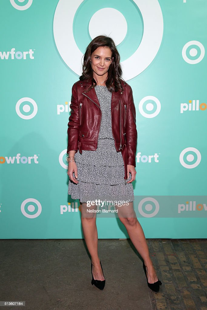 <a gi-track='captionPersonalityLinkClicked' href=/galleries/search?phrase=Katie+Holmes&family=editorial&specificpeople=201598 ng-click='$event.stopPropagation()'>Katie Holmes</a> attends Target Pillowfort launch party at Highline Stages on March 3, 2016 in New York City.