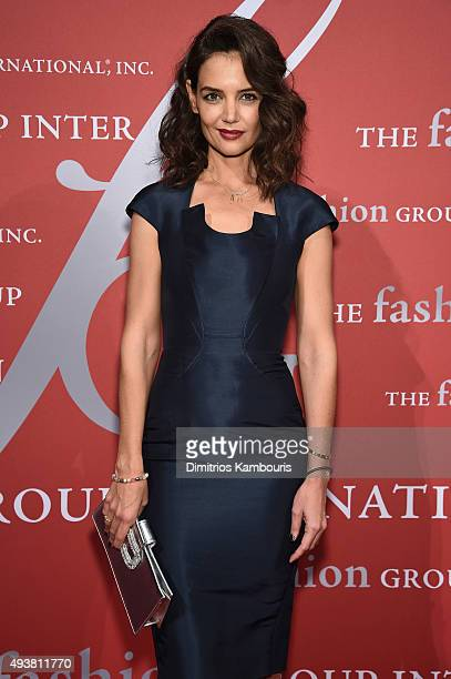 Katie Holmes attends the 2015 Fashion Group International Night Of Stars Gala at Cipriani Wall Street on October 22 2015 in New York City