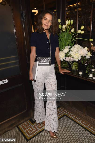 Katie Holmes attends the CHANEL Tribeca Film Festival Artists Dinner at Balthazar on April 24 2017 in New York City