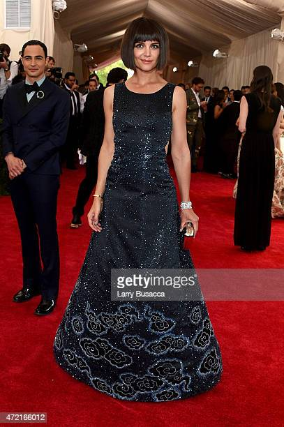 Katie Holmes attends the 'China Through The Looking Glass' Costume Institute Benefit Gala at the Metropolitan Museum of Art on May 4 2015 in New York...