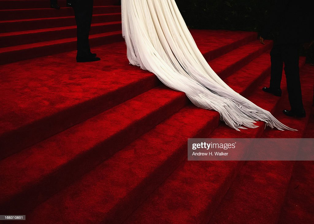 <a gi-track='captionPersonalityLinkClicked' href=/galleries/search?phrase=Katie+Holmes&family=editorial&specificpeople=201598 ng-click='$event.stopPropagation()'>Katie Holmes</a> (dress detail) attends the Costume Institute Gala for the 'PUNK: Chaos to Couture' exhibition at the Metropolitan Museum of Art on May 6, 2013 in New York City.