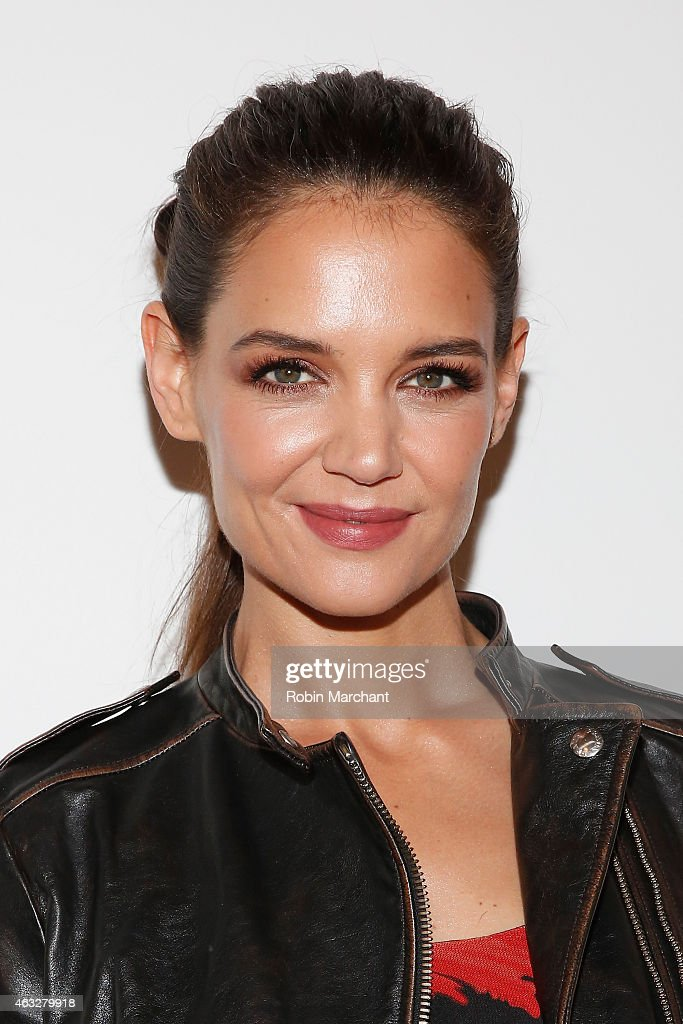 Katie Holmes attends the Desigual fashion show during Mercedes-Benz Fashion Week Fall 2015 at The Theatre at Lincoln Center on February 12, 2015 in New York City.