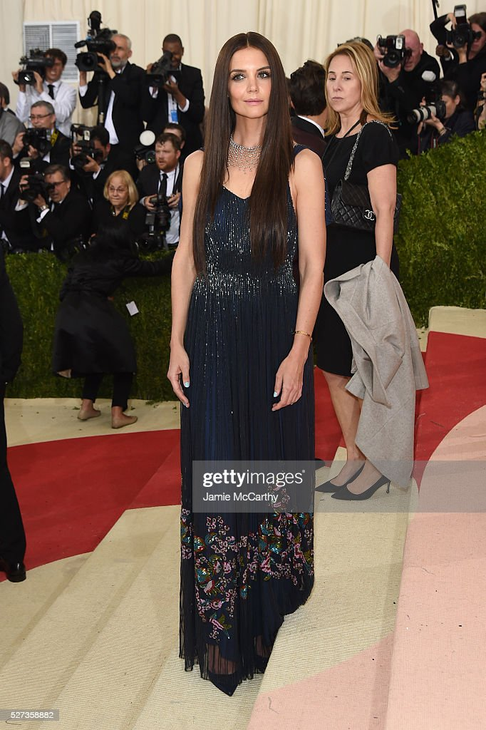 Katie Holmes attends the 'Manus x Machina: Fashion In An Age Of Technology' Costume Institute Gala at Metropolitan Museum of Art on May 2, 2016 in New York City.