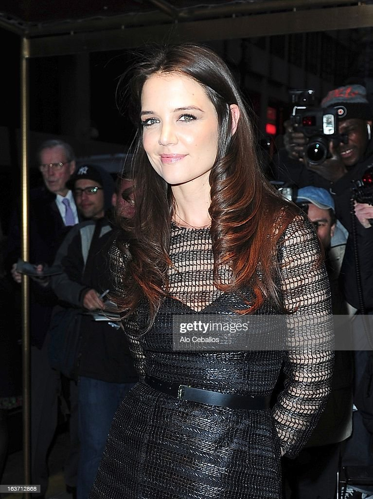 Katie Holmes attends The New York Observer 25th Anniversary Party at the Four Seasons Restaurant on March 14, 2013 in New York City.