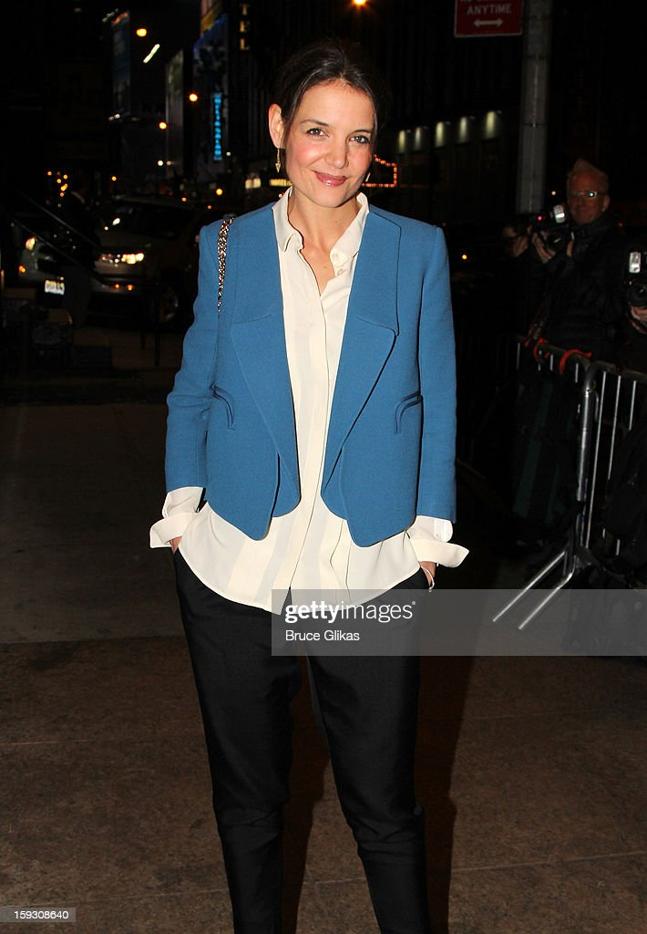 <a gi-track='captionPersonalityLinkClicked' href=/galleries/search?phrase=Katie+Holmes&family=editorial&specificpeople=201598 ng-click='$event.stopPropagation()'>Katie Holmes</a> attends 'The Other Place' Broadway opening night at Samuel J. Friedman Theatre on January 10, 2013 in New York City.