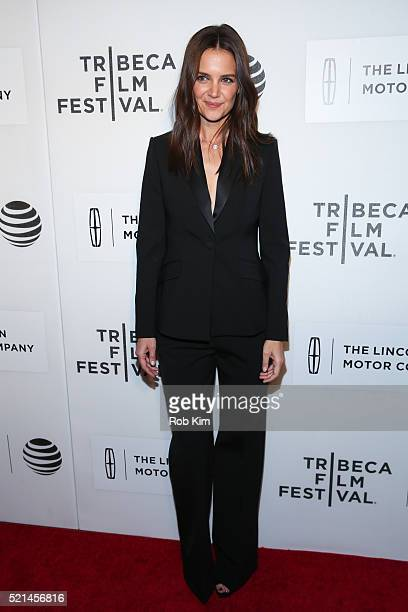 Katie Holmes attends the premiere of 'All We Had' during the 2016 Tribeca Film Festival at John Zuccotti Theater at BMCC Tribeca Performing Arts...