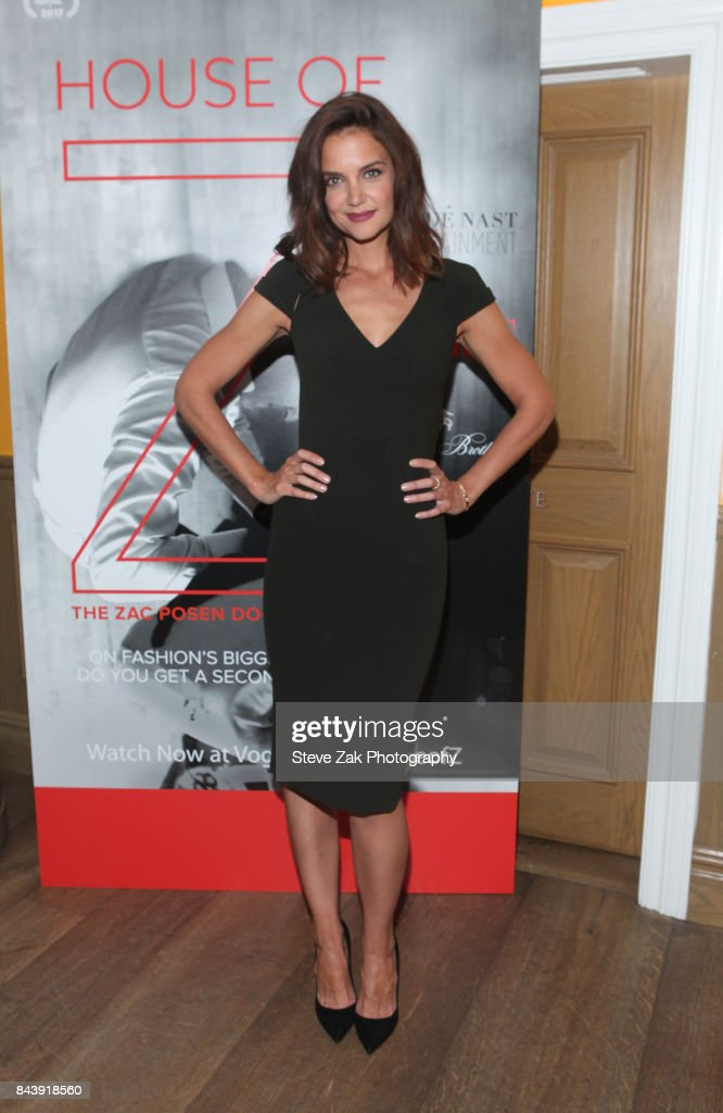 Katie Holmes attends the premiere of 'House Of Z' hosted by Brooks Brothers with The Cinema Society at Crosby Street Hotel on September 7, 2017 in New York City.