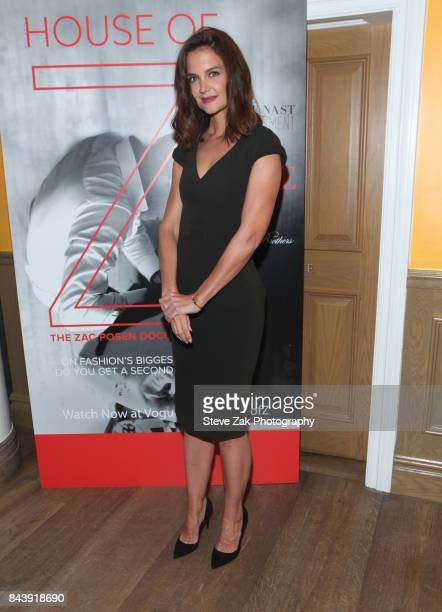 Katie Holmes attends the premiere of 'House Of Z' hosted by Brooks Brothers with The Cinema Society at Crosby Street Hotel on September 7 2017 in New...