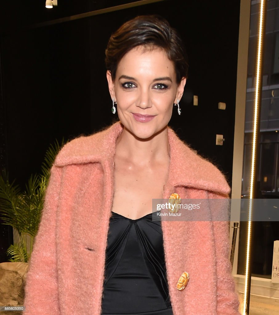 Katie Holmes attends the Prive Reveaux eyewear flagship launch on December 4, 2017 in New York City.