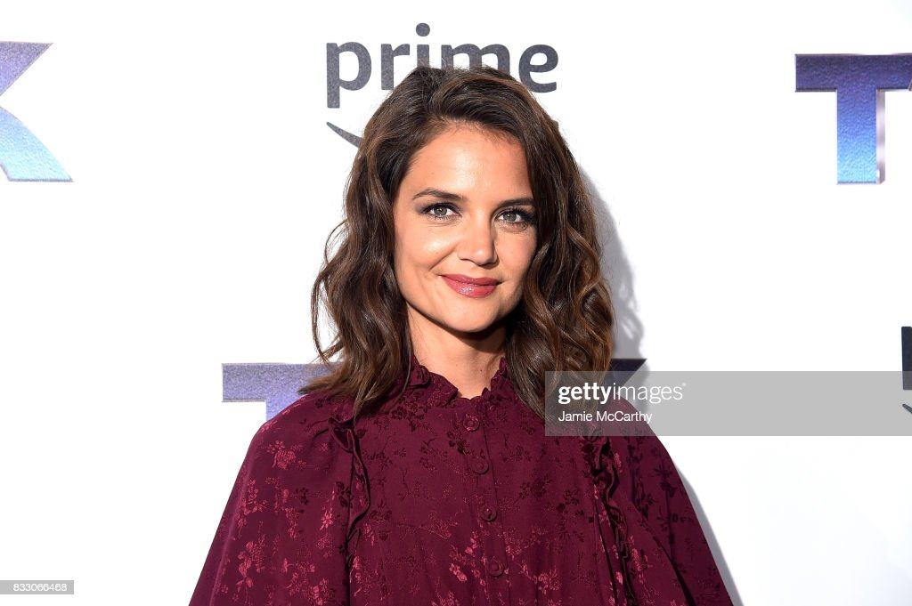 Katie Holmes attends 'The Tick' Blue Carpet Premiere at Village East Cinema on August 16, 2017 in New York City.