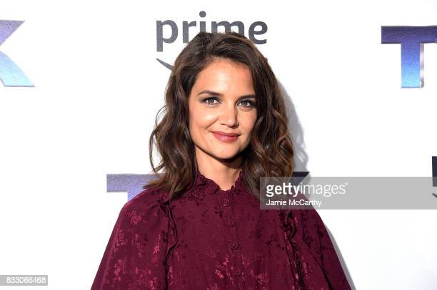 Katie Holmes attends 'The Tick' Blue Carpet Premiere at Village East Cinema on August 16 2017 in New York City
