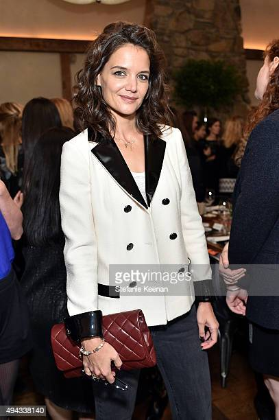 Katie Holmes attends Through Her Lens The Tribeca Chanel Women's Filmmaker Program luncheon at Locanda Verde on October 26 2015 in New York City