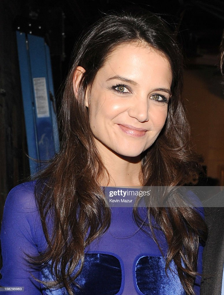 Katie Holmes backstage during '12-12-12' a concert benefiting The Robin Hood Relief Fund to aid the victims of Hurricane Sandy presented by Clear Channel Media & Entertainment, The Madison Square Garden Company and The Weinstein Company>> at Madison Square Garden on December 12, 2012 in New York City.