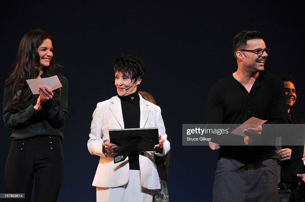 <a gi-track='captionPersonalityLinkClicked' href=/galleries/search?phrase=Katie+Holmes&family=editorial&specificpeople=201598 ng-click='$event.stopPropagation()'>Katie Holmes</a>, <a gi-track='captionPersonalityLinkClicked' href=/galleries/search?phrase=Chita+Rivera&family=editorial&specificpeople=206571 ng-click='$event.stopPropagation()'>Chita Rivera</a> and <a gi-track='captionPersonalityLinkClicked' href=/galleries/search?phrase=Ricky+Martin&family=editorial&specificpeople=160450 ng-click='$event.stopPropagation()'>Ricky Martin</a> host the 2012 Gypsy Of The Year Competition benefitting Broadway Cares Equity Fights AIDS at The New Amsterdam Theatre on December 7, 2012 in New York City.