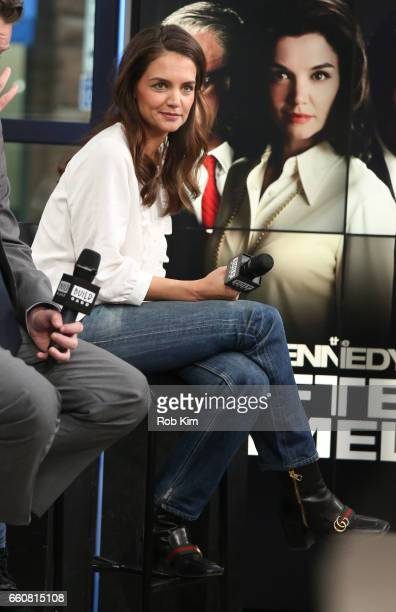 Katie Holmes discusses 'The Kennedys After Camelot' during the Build Series at Build Studio on March 30 2017 in New York City