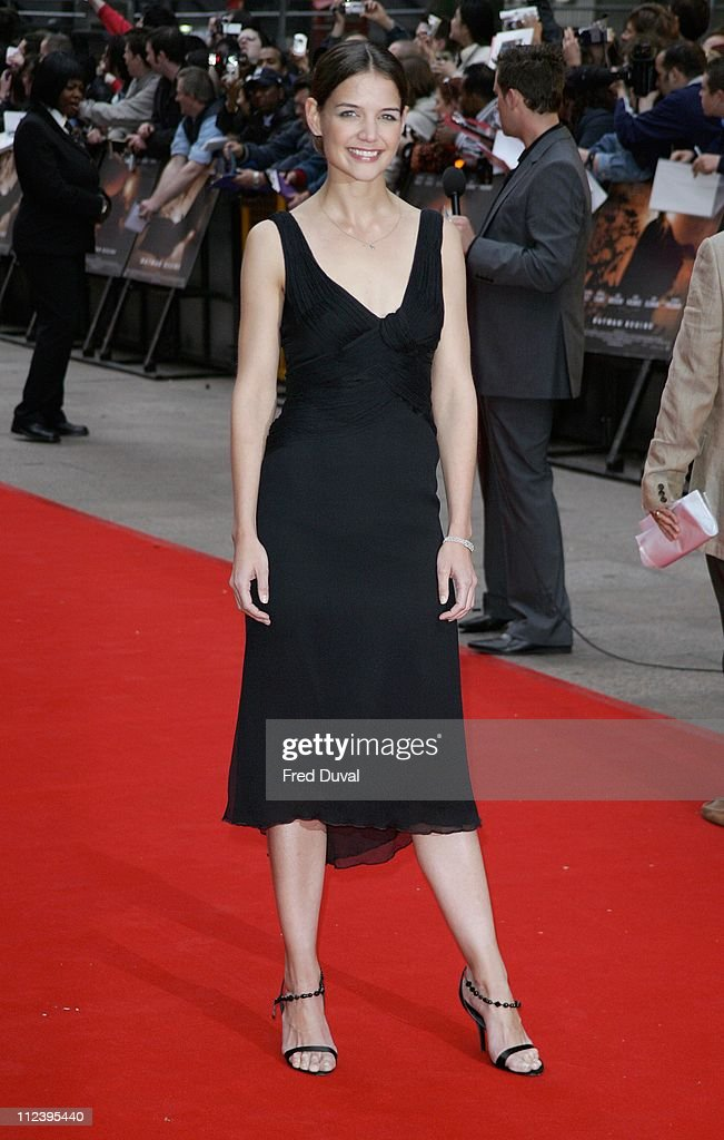 Katie Holmes during 'Batman Begins' London Premiere Arrivals at Odeon Leicester Square in London Great Britain
