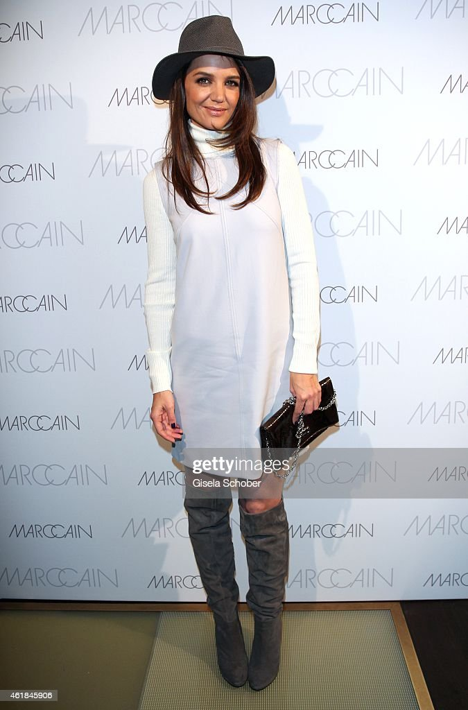 <a gi-track='captionPersonalityLinkClicked' href=/galleries/search?phrase=Katie+Holmes&family=editorial&specificpeople=201598 ng-click='$event.stopPropagation()'>Katie Holmes</a> during the Marc Cain Dinner at Sra Bua Bar on January 20, 2015 in Berlin, Germany.