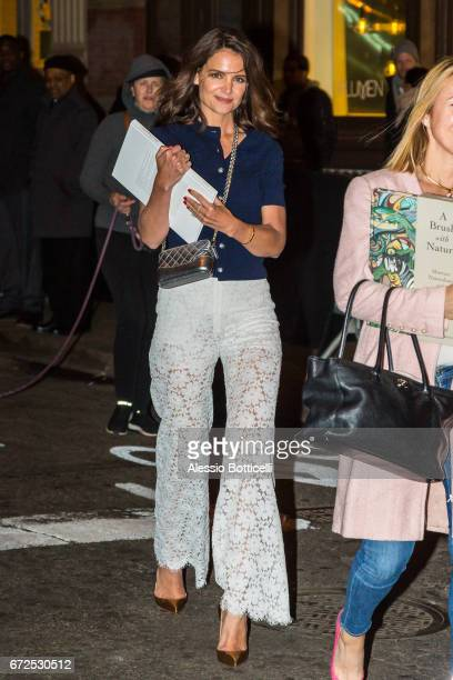 Katie Holmes is seen in SoHo on April 24 2017 in New York New York
