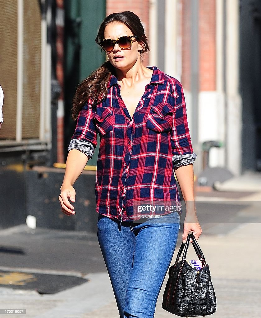 Katie Holmes is seen in Tribeca on July 29, 2013 in New York City.