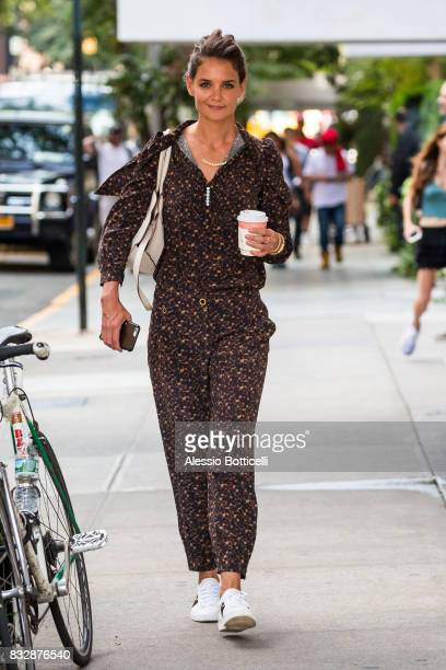 Katie Holmes is seen leaving her hotel on August 16 2017 in New York City