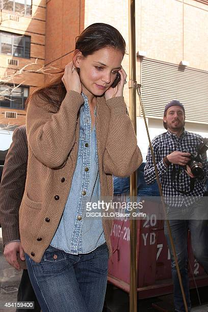 Katie Holmes is seen on March 23 2012 in New York City