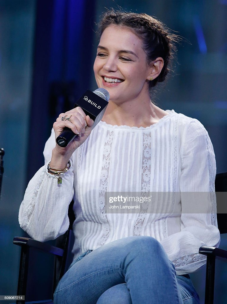 <a gi-track='captionPersonalityLinkClicked' href=/galleries/search?phrase=Katie+Holmes&family=editorial&specificpeople=201598 ng-click='$event.stopPropagation()'>Katie Holmes</a> of 'Touched with Fire' attend AOL Build Speaker Series at AOL Studios In New York on February 8, 2016 in New York City.