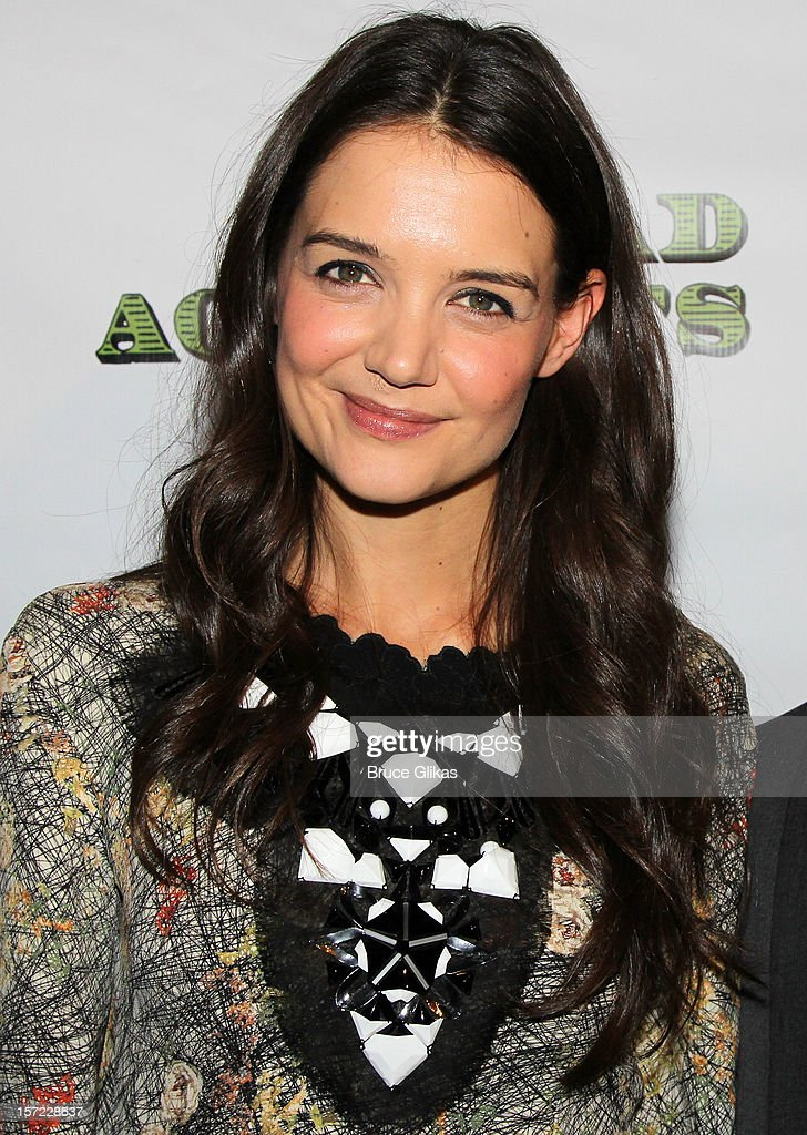 Katie Holmes poses at the Opening Night After-Party for 'Dead Accounts' on Broadway at Gotham Hall on November 29, 2012 in New York City.