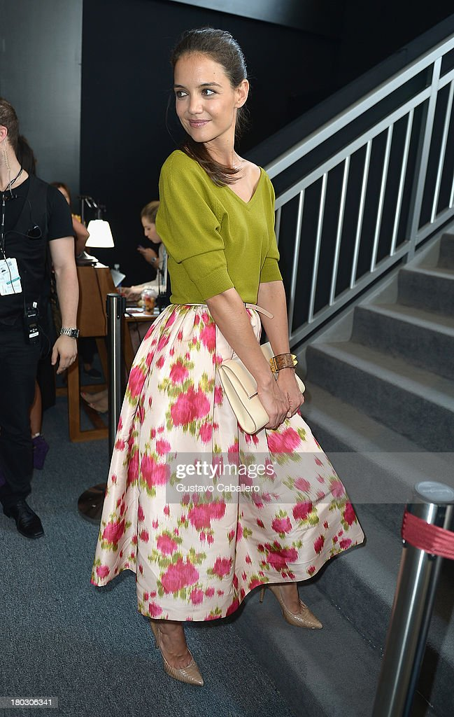Katie Holmes seen during Mercedes-Benz Fashion Week Spring 2014 at at Lincoln Center for the Performing Arts on September 11, 2013 in New York City.