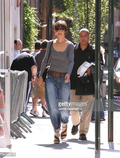 Katie Holmes seen on the streets of Manhattan on August 16 2008 in New York City